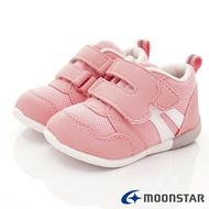 日本月星Moonstar機能童鞋HI系列3E寬楦頂級學步鞋款1114粉(寶寶段)SUPER SALE樂天購物節