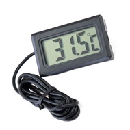 Thermometer Tank Black Digital LCD Fridge Plastic Aquarium Thermometer