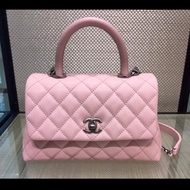 Chanel coco handle 28cm櫻花粉 限量色