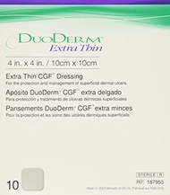 Convatec DuoDERM CGF Extra Thin Dressing 4&quot x4&quot , 10/Pack
