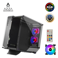 AZZA Innovative Tempered Glass ARGB OPTIMA 803 With RF Remote control - Black