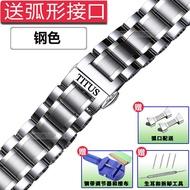 โปรโมชั่น band สแตนเลส titusไตตัสไตตัสนาฬิกาเหล็ก เหล็กสเตนเลสสตีล19 20mmสร้อยข้อมือโลหะคู่ชายและหญิง qk8Y ราคาถูก สาย นาฬิกา สาย นาฬิกา garmin สาย นาฬิกา casio สาย หนัง นาฬิกา