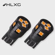 HLXG 2X T10 W5W LED 3030 ที่จอดรถเปิดสัญญาณClearance Back Upป้ายทะเบียนรถภายในไฟแผงโคมไฟ 12V 24V