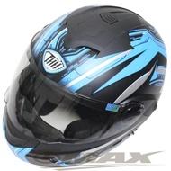 【THH】新一代駭客全罩半罩可掀式雙鏡片安全帽 T797A+-黑藍M(12H)