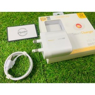 100% Original OPPO Realme SuperVOOC Charger 65W SuperVOOC Charger With VOOC Cable Type-C 1 Set