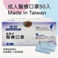 【成人口罩現貨】東野醫療口罩 50片/盒 成人|MIT台灣醫用口罩