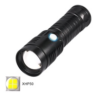 P50超強光手電筒 USB充電 2000流明 防水手電筒 秒殺L2晶片 鋁合金手電筒