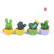 |TGA| Miniature Diy Cactus Pot Ornamental Fairy Garden Ornament Decor Craft Dollhouse