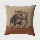 Art de Lys法國原裝 8520兩隻小貓/米色背面/單面抱枕套50x50
