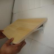 可折疊置物架廚房免打孔掛牆桌一字隔板壁掛桌牆壁上折疊桌實木