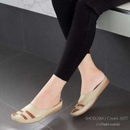 3077 รองเท้าคัชชู เพื่อสุขภาพ มีปุ่มยางกันลื่น