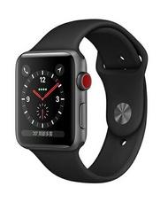 (刷卡最高享10%回饋)Apple Watch Series3 GPS+行動網路 42mm-太空灰鋁金屬錶殼/黑色運動錶帶