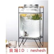梅森罐 5L&8L 玻璃罐 出口歐美日本 冷水壺 304不銹鋼水龍頭飲料桶 紅茶桶【奈良品】