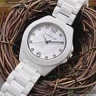 COACH蔻馳精品錶,編號:CH00046,28mm圓形白陶瓷錶殼白色錶盤陶瓷白錶帶