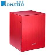 JONSBO 喬思伯 C2 電腦機殼-粉紅 (ITX/顯卡220mm/塔散80mm)