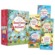 Usborne Lift-the-flap Questions and Answers Collection 5 Books