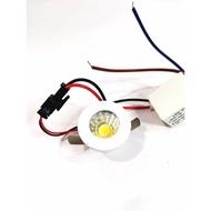 """1"""" AB WHITE CASING 1W COB LED Eyeball Spotlight Ceiling Lamp Downlight White Warm"""
