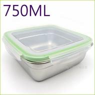 asdfkitty可愛家☆304不鏽鋼正方型-750ML樂扣型保鮮盒/便當盒/快速解凍盒