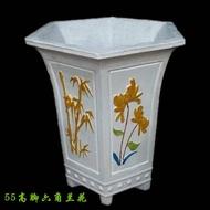 低價促銷六角形水泥花盆模具室內高腳蘭花盆景模具花園別墅羅馬柱模具