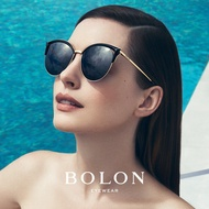 【BOLON 暴龍】 時尚流行金屬貓眼眉框太陽眼鏡 明星代言款 BL6029