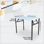 3V 2' x 3' Folding Banquet Table / Foldable Banquet Table / Function Table / Catering Table / Buffer Table / Hall Table / Office Table / Folding Table with Plastic Table Top