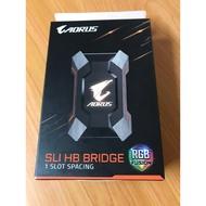 技嘉 AORUS SLI HB bridge RGB 2 slot spacing 電競橋接器配件