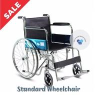 Wheelchair Chrome Plated Steel Standard Folding Lightweight Wheelchair Manual Wheel Chair for Elderly