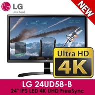 "LG 24UD58-B 24"" IPS LED 4K UHD FreeSync Monitor - Black - intl"