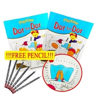 FREE PENCIL Dot to Dot Drawing Coloring Activity Book Learning Matching Books