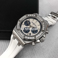 錶皇 AP 愛彼 JF廠系列 皇家橡樹離岸精鋼鑲鑽白色機械錶26231ST.ZZ.D010CA.01