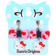 螺旋式耳夾 三麗鷗 Hello Kitty 垂墜感 夾式耳環 日本進口正版授權