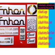 ̄☌ Fnhon GUST Bicycle Frame Sticker For 1 Frame - GOLD Diorer
