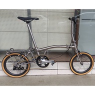 3sixty titanium domestic small cloth suitable for brompton outer 5-speed 349 BMX folding bike leisure 8.0kg