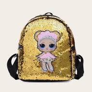BAGOOกระเป๋าเป้เด็กผู้หญิงปักเลื่อม,กระเป๋าสะพายไหล่ลายการ์ตูนกระเป๋านักเรียนกระเป๋าเป้เดินทางสำหรับเด็กผู้หญิง