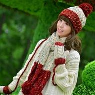 ★圍巾+手套+毛帽(三件套)-韓版多彩防寒配件組合5色71an12【獨家進口】【米蘭精品】