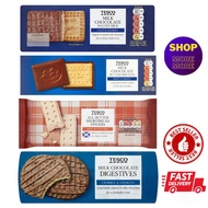 TESCO UK BISCUIT:  Milk Chocolate Malted/ Chocolate Butter Cookies/ All Butter Shortbread / Chocolate Digestive