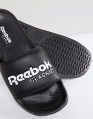 리복 Reebok Classic sliders in black bs7414