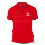 Yamaha Tech3 Monster Polo T Shirt Sulam MotoGP Motorcycle Motosikal Superbike Racing Team Casual Y125Z RXZ TZM SRL Y15