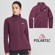 【美國 The North Face】女新款 Polartec 彈性保暖輕柔刷毛抓絨外套夾克/透氣快乾/364K 深紅