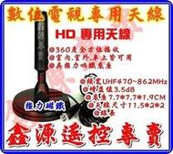 HD數位天線 3米線長 (全方位360度接收) 適用各廠牌數位電視數位機上盒及車用