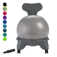 Gaiam Classic Balance Ball Chair â Exercise Stability Yoga Ball Premium Ergonomic Chair for Home and Office Desk with Air Pump, Exercise Guide and Satisfaction Guarantee
