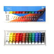 12/24 สีสีอะคริลิชุดสีสีสำหรับผ้าเสื้อผ้าเล็บแก้ววาดจิตรกรรมสำหรับเด็กกันน้ำอุปกรณ์ศิลปะ