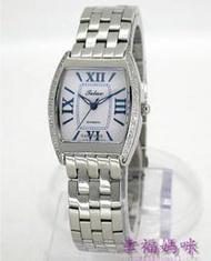 【 幸福媽咪 】TELUX 鐵力士 酒桶型 藍寶石水晶鏡面 頂級不鏽鋼 自動手動上鍊機械錶(可自取實體店面)SW-9532L免運費