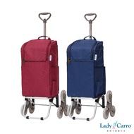 [現貨免運]【Lady Carro蕾地卡蘿】三輪伸縮拉桿購物車/手拉車/買菜車/購物車/附提把/可側背或手提