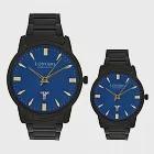LONGBO龍波 80580 閃耀光澤多角度切割鏡面對錶手錶 - 藍面 大