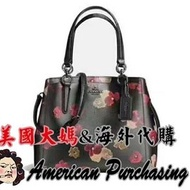 美國大媽代購 COACH 蔻馳 38417 碎花設計馬蹄包 手提袋 三層隔層斜背包 女包 原裝正品 美國代購