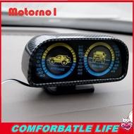 Motorno1 [readystock] ขายดีที่สุดรถเอียงมุมสองลำกล้อง inclinometer Balancer Backlight Slope Meter เกจ