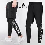 『ES』BR8472 adidas 愛迪達 男褲 2017新款假兩件彈力緊身褲跑步訓練運動褲 長褲 假兩件運動褲 運動長褲