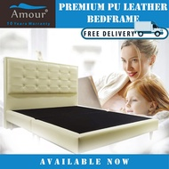 AMOUR BRAND PREMIUM PU LEATHER BED FRAME/SINGLE SIZE/SUPER SINGLE SIZE/QUEEN SIZE/KING SIZE