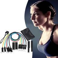 帶標 葫蘆鈎 11件套裝組 拉力繩 拉力帶 瑜珈 彈力繩 阻力帶 150磅